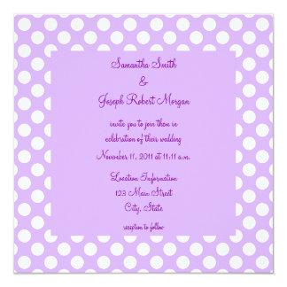 Light Purple and White Polka Dot Wedding Card