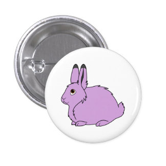 Light Purple Arctic Hare 1 Inch Round Button