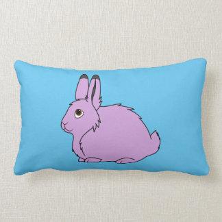 Light Purple Arctic Hare Throw Pillow