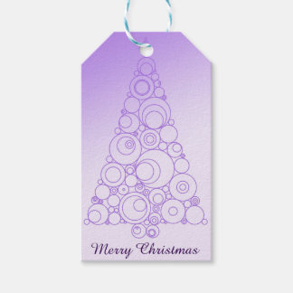 Light Purple Artistic Christmas Tree Pack Of Gift Tags