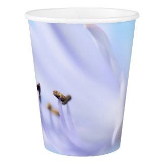 Light purple / blue flower party paper cup