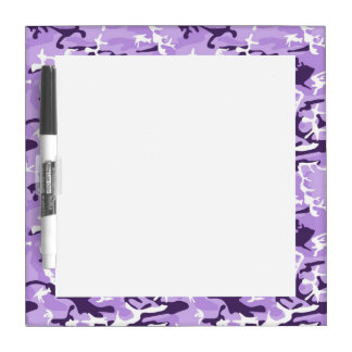 Light Purple Camo Pattern Dry Erase White Board