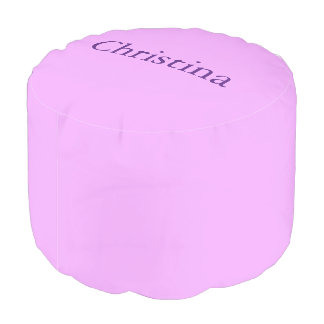 Light Purple Custom Name Pouf