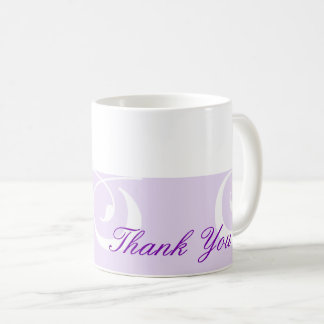 Light-purple Decorative Band Purple Thank You Mug