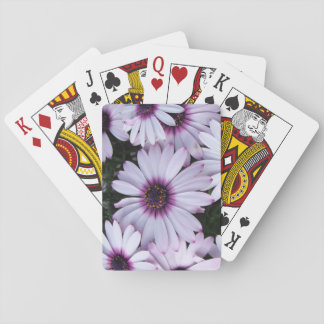 Light Purple Flower Bouquet Playing Cards