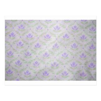 Light Purple Flower Pattern Postcard