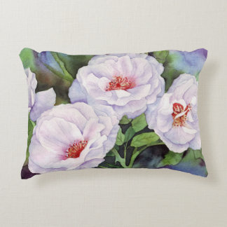 Light Purple Flowers Accent Pillow
