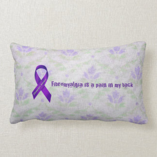 Light Purple Flowers Fibromyalgia Awareness Throw Pillow