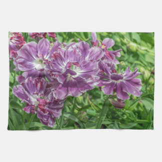 Light purple flowers kitchen towel