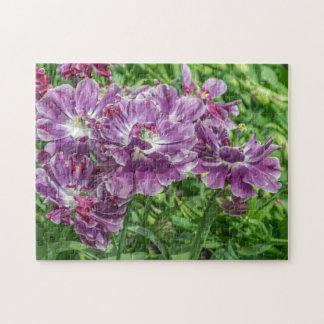 Light purple flowers photo puzzle