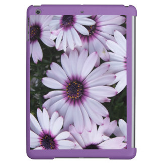 Light Purple Flowers with Purple Background iPad Air Covers