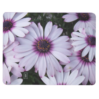 Light Purple Flowers with Purple Background Journal