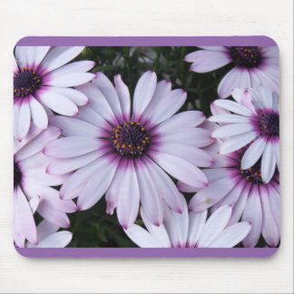 Light Purple Flowers with Purple Background Mouse Pad