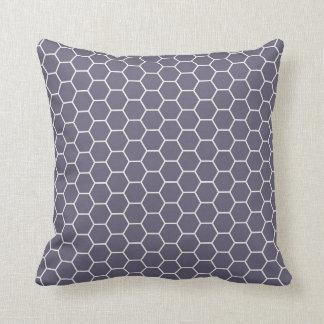 Light Purple Geometric Hexagon Honeycomb Pattern Throw Pillows