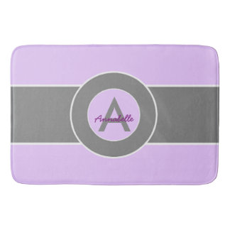 Light Purple Gray Bathroom Mat