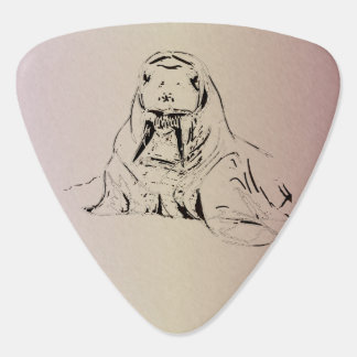 Light Purple Hand Drawn Walrus Digitized Guitar Pick