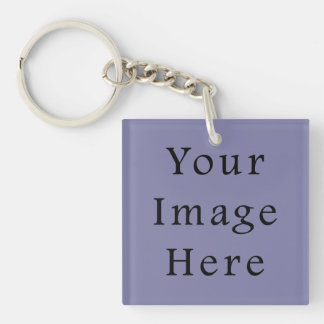 Light Purple Haze Color Trend Blank Template Single-Sided Square Acrylic Keychain
