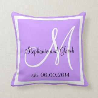Light Purple Lavender Wedding keepsake pillow