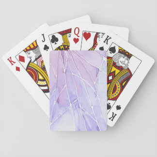 Light Purple Marble Break Playing Cards