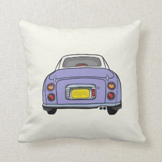 Light Purple Nissan Figaro on cream Pillow Cushion