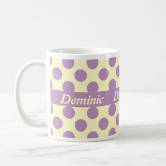 Light Purple Polka Dots Personalized Mugs