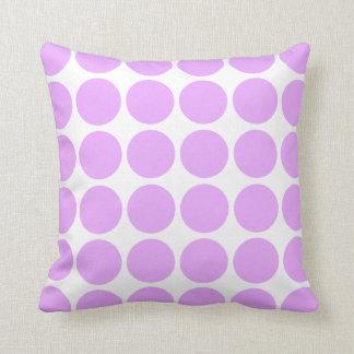 Light Purple Polkadot Throw Pillow