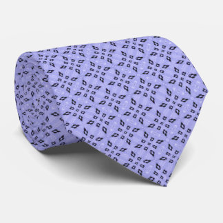 Light Purple Retro Geometrical Pattern Tie