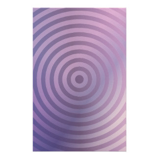 Light purple rings personalized stationery