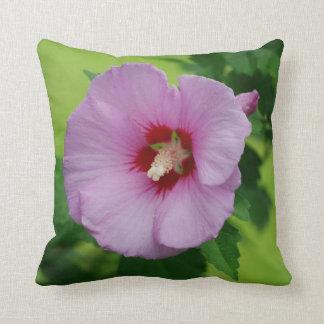 Light Purple Rose of Sharon Throw Pillow