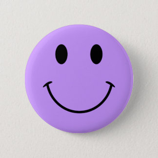 Light Purple Smiley Face Button