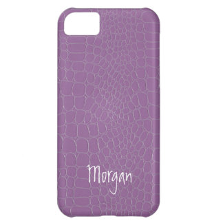 Light Purple Snake Skin Print Cover For iPhone 5C