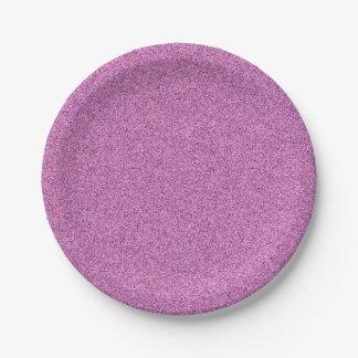 Light Purple Speckled Paper Plate