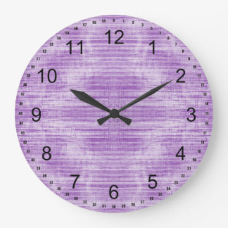 Light Purple Textured Large Clock