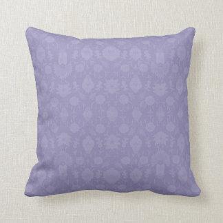 Light Purple Vintage Floral Pillow