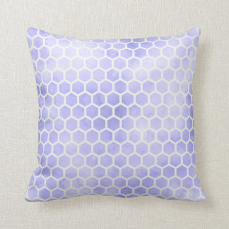 Light Purple Watercolor Honeycomb Pillow