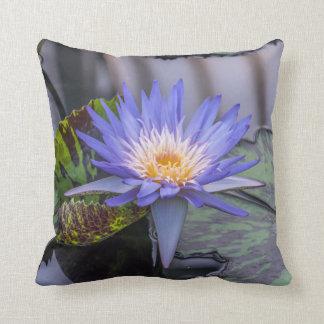 Light purple waterlily throw cushion