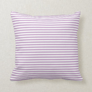 Light Purple & White Stripes Pillow