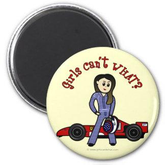 Light Race Car Driver Girl Magnet