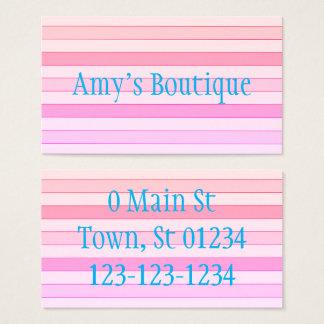 Light Rainbow Striped Business Cards