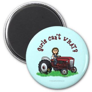 Light Red Farmer Girl Magnet