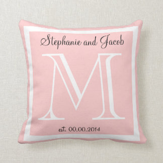 Light Rose Pink Wedding keepsake pillow