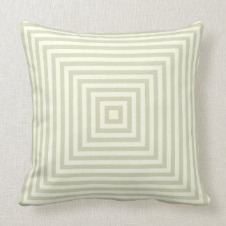 Light Sage Green Box Stripes Simple Pattern Throw Pillow