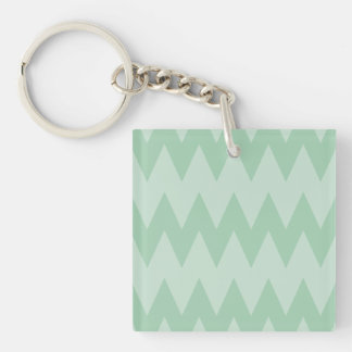 Light Sage Green Zigzags Acrylic Keychains