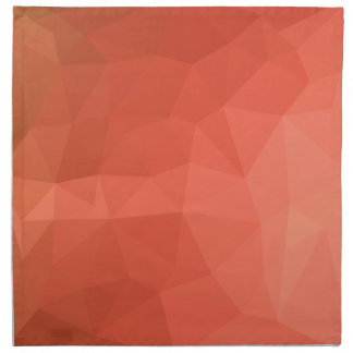 Light Salmon Abstract Low Polygon Background Napkin