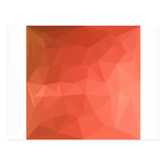 Light Salmon Abstract Low Polygon Background Postcard