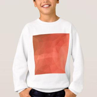 Light Salmon Abstract Low Polygon Background Sweatshirt