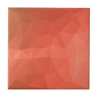 Light Salmon Abstract Low Polygon Background Tile