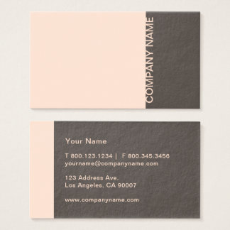 Light Salmon Brown Modern Business Card