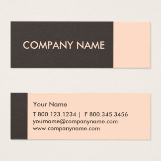 Light Salmon Brown Modern Mini Business Card