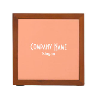 Light Salmon Personalized Desk Organizer
